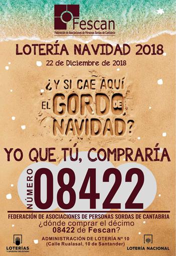 LOTERÍA DE NAVIDAD DE FESCAN 2018