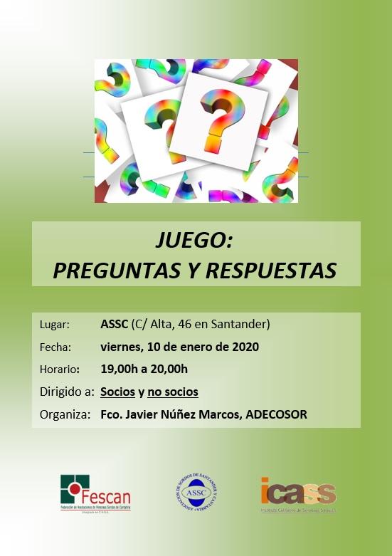 JUEGO DE PREGUNTAS Y RESPUESTAS EN LA ASSC
