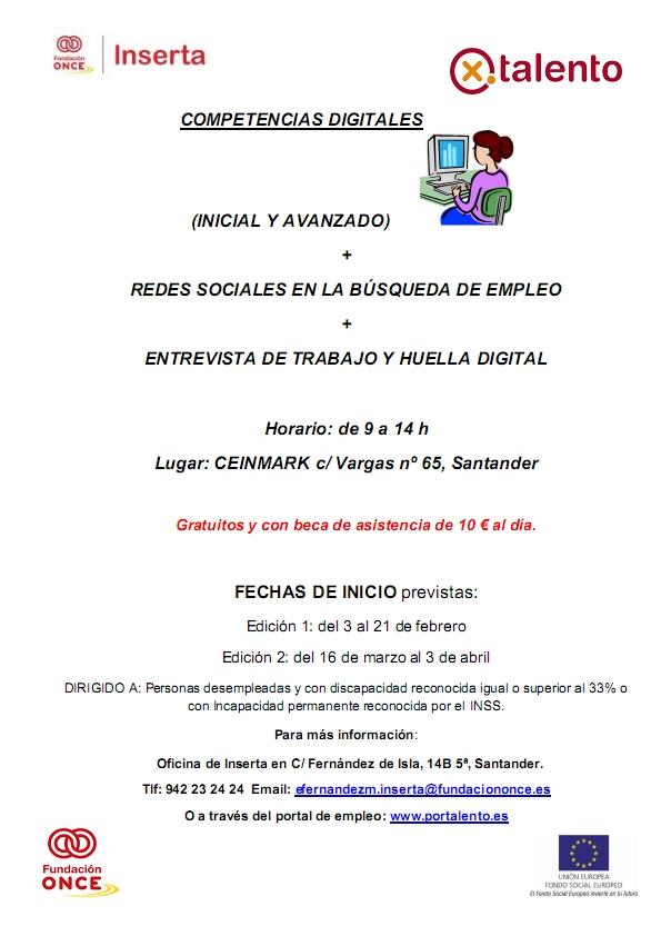 CURSO SOBRE COMPETENCIAS DIGITALES IMPARTIDO POR INSERTA