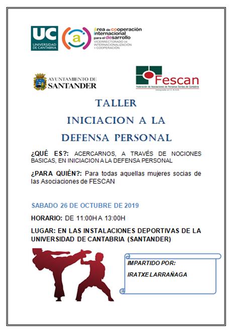 TALLER DE INICIACIÓN A LA DEFENSA PERSONAL PARA MUJERES SORDAS