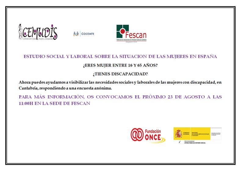 ESTUDIO SOCIAL Y LABORAL SOBRE LA SITUACION DE LAS MUJERES EN ESPAÑA