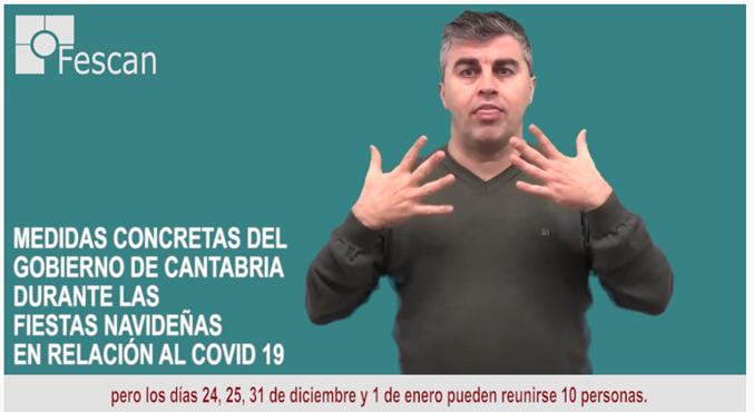 MEDIDAS CONCRETAS DEL GOBIERNO DE CANTABRIA DURANTE LAS FIESTAS NAVIDEÑAS EN RELACIÓN AL COVID 19.