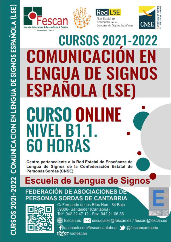INSCRIPCIÓN ABIERTA. NUEVO CURSO DE LENGUA DE SIGNOS ONLINE B1.1