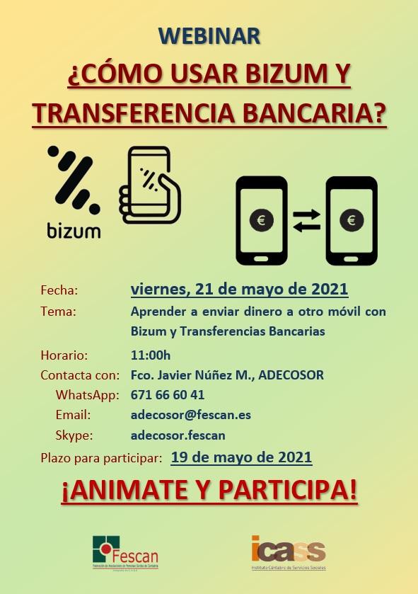 WEBINAR: CÓMO USAR BIZUM Y TRANSFERENCIAS BANCARIAS