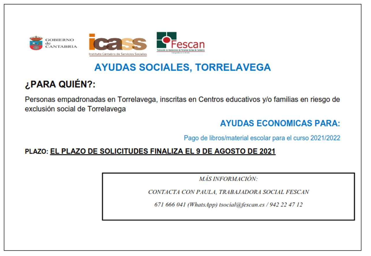 AYUDAS SOCIALES EN TORRELAVEGA