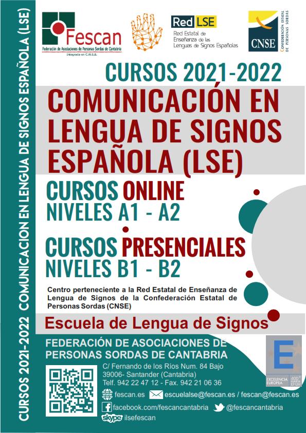 INSCRIPCIÓN ABIERTA. NUEVOS CURSOS DE LENGUA DE SIGNOS (ONLINE Y PRESENCIAL)